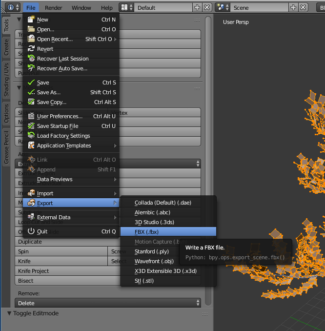 How to make a tree in Blender for Unity